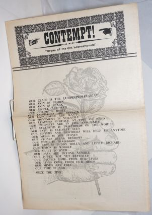 Contempt; Vol.1, No.1 & Vol.1, No.2, April 16 and May 1-14, 1970 (two issues); Organ of the 6th Internationale
