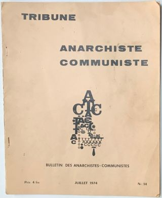Tribune anarchiste communiste. No. 14