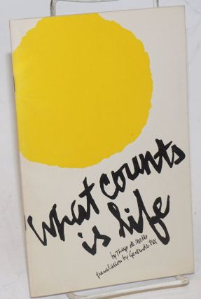 What Counts Is Life. From exile in Chile, a Brazilian poet responded to the repressive decrees of...