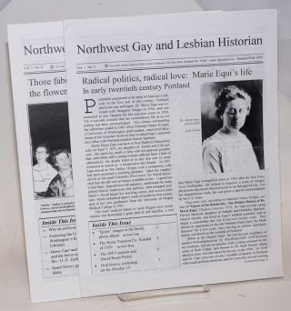 Northwest Gay and Lesbian Historian newsletter: vol. 1, #3 & 4, Summer/Fall, 1996 & June 1997...