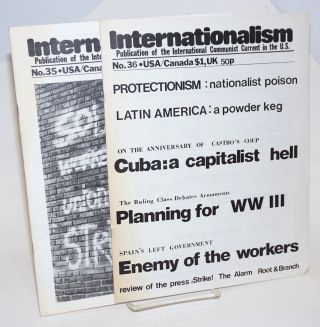 Internationalism: publication of the International Communist Current in the US. Nos. 35 and 36...