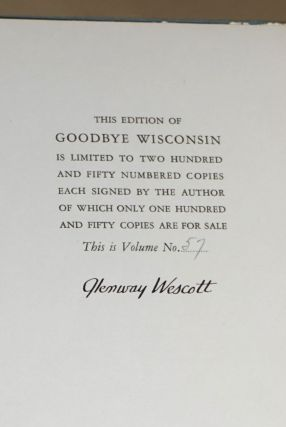 Good-bye Wisconsin [signed]
