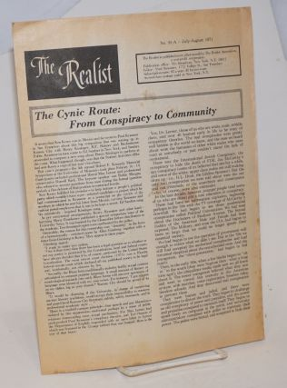 The realist [no.91-A]; The cynic route: from conspiracy to community. Paul Krassner