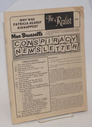 The Realist [no.98]; Why was Patricia Hearst kidnapped? Mae Brussell's conspiracy newsletter...
