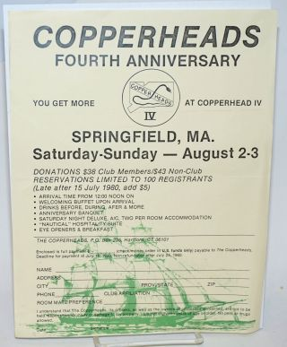 Copperheads: fourth anniversary [handbill] Springfield, MA Saturday - Sunday - August 2-3, 1980