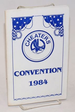 Cheaters San Francisco Convention 1984 [program