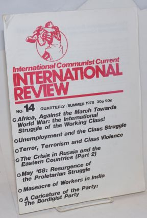 International Review Number 14. Summer 1978. International Communist Current