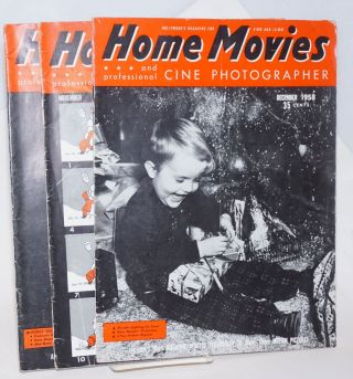 Home Movies and professional Cine Photographer; Hollywood's Magazine for the 8mm and 16mm Amateur / America's only Magazine devoted exclusively to 8mm - 16mm motion pictures. May 1957 Vol XXIV No 5 [&] May 1958 Vol XXV No 5 [&] November 1958 No 11 [&] December No 12 [&] February 1959 Vol XXVI No 2 [5 issues as a small lot]