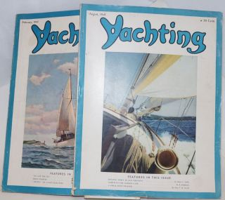 Yachting, Vol LXIX No II [number 2?] February 1941, plus Vol LXX No II [?] August 1941; two...