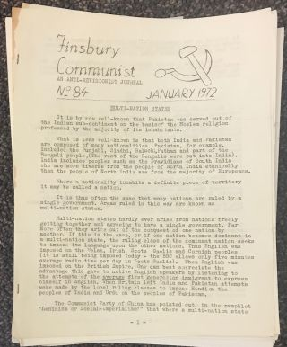 Finsbury Communist: an anti-revisionist journal [189 issues]. Ivor and Florence Kenna