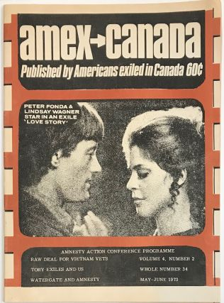 AMEX Canada, Published by Americans exiles in Canada; volume 4 no. 2 (May-June 1973)