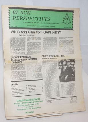 Black Perspectives. Vol. 3 no. 1 (Nov. 1985