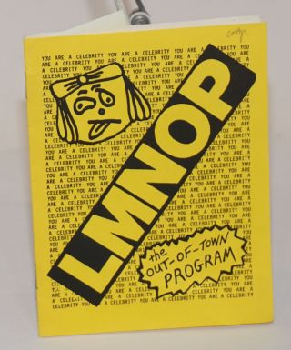 """LMNOP, the Out-Of-Town Program [with] the LMNOP Pocket Book """"Everyone should carry a pocketbook!"""" [2 related zines]"""
