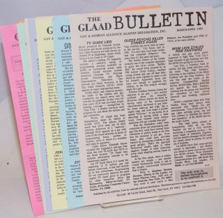 The GLAAD Bulletin ten issue run, March/April 1991 - Sept/Oct 1992