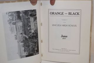 Orange and Black. Volume IV of the Lincoln High School, June 1917