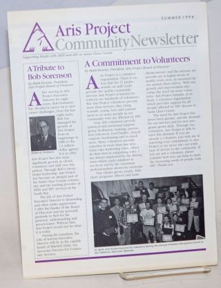 Aris Project Community Newsletter and annual report to the community fiscal 1993-94 two items [newsletter and report]