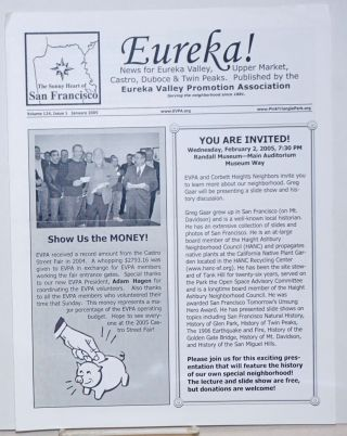Eureka! news for Eureka Valley, Upper Market, Castro, Duboce & twin Peaks; vol. 123, #10 & vol. 124, #1, Oct. 2004 & Jan. 2005