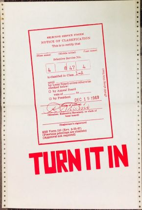 Turn it in [poster with image of a draft card