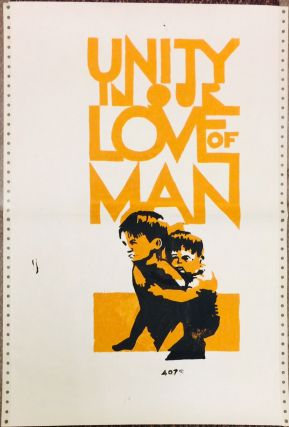 Unity in our love of man [poster