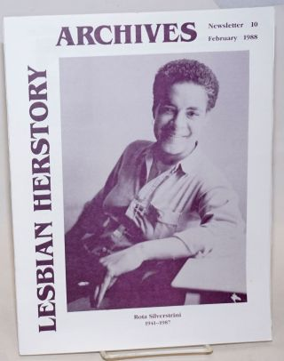 Lesbian Herstory Archives: newsletter #10, February, 1988; Rota Silverstrini 1941-1987