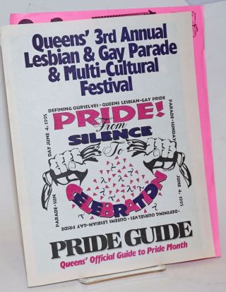 Queen's 3rd Annual Lesbian & Gay Pride & Multi-cultural Festival: Pride! from Silence to celebration, Pride Guide, Sunday June 4, 1995