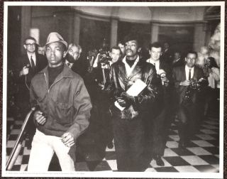 Li'l Bobby Hutton and Bobby Seale storming the California State Capitol at Sacramento, May 2,...