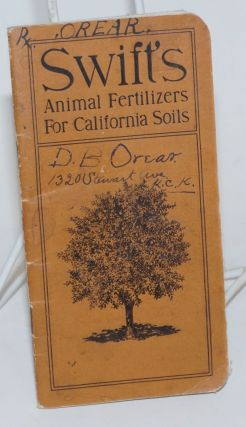 Swift's Animal Fertilizers For California Soils