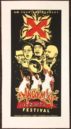 10 year anniversary / Malcolm X Jazzarts Festival [screenprint poster]. Eastside Arts Alliance