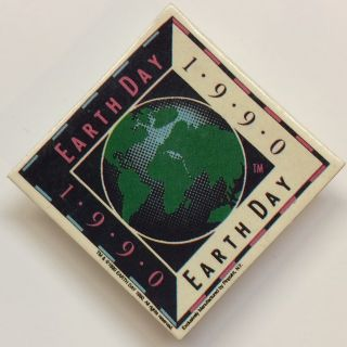 Earth Day 1990 [pinback button
