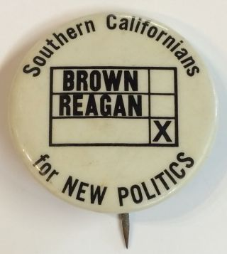 Southern Californians for New Politics [pinback button]