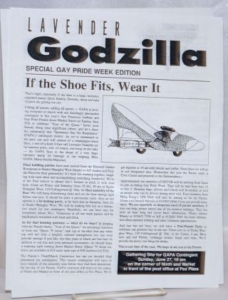 Lavender Godzilla: special Gay Pride Week edition [June 1993]. Gay Asian Pacific Alliance