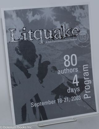 Litquake: a San Francisco literary festival September 18-21, 2003