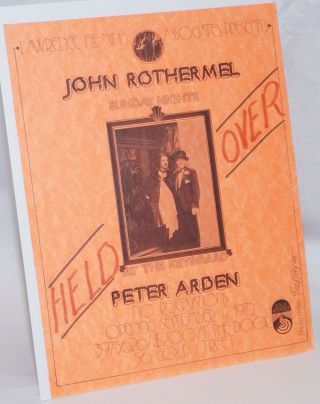 Lawrence Fleming Associates presents John Rothermel Sunday Nights Held Over [handbill] at the...