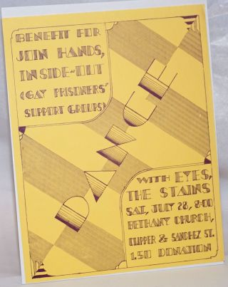 Dance: Benefit for Join Hands, Inside-Out (Gay Prisoners' Support Groups) [handbill] with Eyes,...