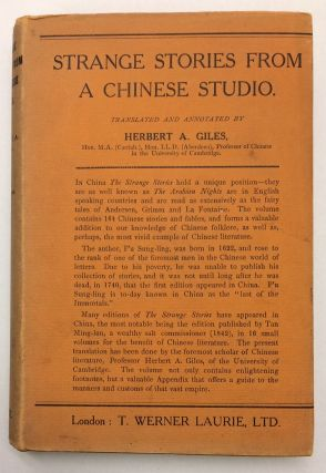 Strange Stories From A Chinese Studio. Herbert A. Giles.