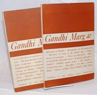 Gandhi Marg: Jounral of the Gandhi Peace Foundation (nos. 40 and 41