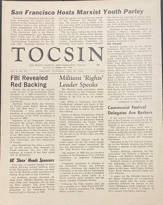 Tocsin, the West's leading anti-Communist weekly. Vol. 5, no. 25 (June 20, 1964). George H....