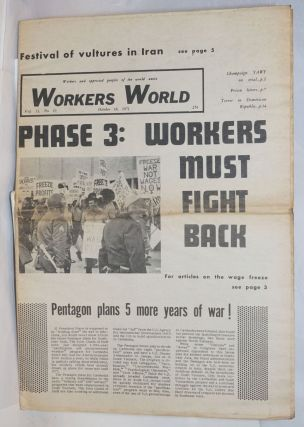 Workers World, Vol. 13, No. 19, Oct. 18, 1971. Naomi Cohen, Deirdre Griswold
