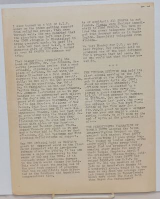 Newsletter Selma Inter-religious Project, no. 12, April 12, 1967