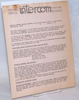 Intercom; #2. August 1, 1972 Indochina Summer News and Resources