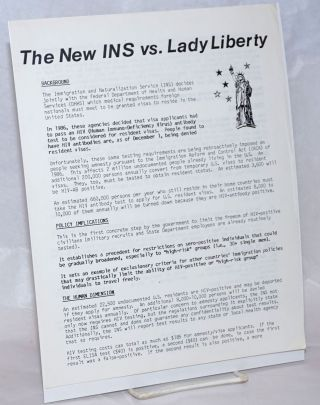 The New INS vs. Lady Liberty [handbill]. Act Up/LA