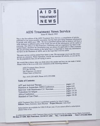 AIDS Treatment News: AIDS Treatment News Service #1, March 1993