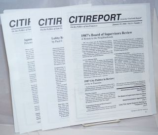 "Citireport formerly ""The Pettit report"" on the politics of San Francisco: vol.9, numbers 1-3,..."