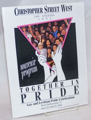 Christopher Street West/Los Angeles 1991 Together in Pride souvenir program gay and Lesbian Pride...