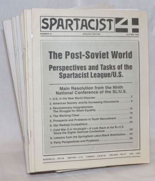 Spartacist. Numbers 51-62 (Autumn 1994-Spring 2001). International Executive Committee of the...