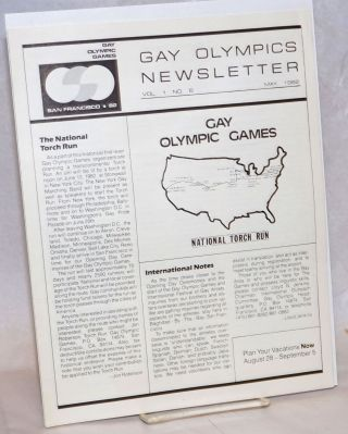 Gay Olympics Newsletter vol. 1, #6 & 8, May & July 1982 [two issues