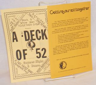 Black & White Men Together - SFBA: A Deck of 52 &Getting Our Act Together [two leaflets