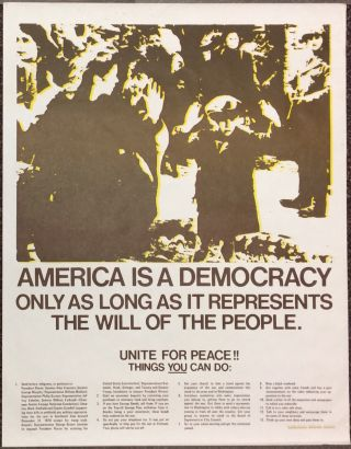 America is a Democracy Only as Long as it Represents the Will of the People [poster