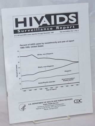 HIV/AIDS Surveillance Report: US HIV and AIDS cses reported through December 1995; vol. 7, #2;...