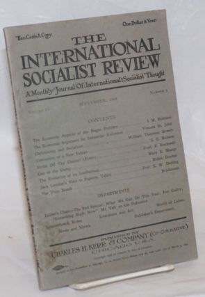 The International Socialist Review; vol. 9 no. 3 (September 1908